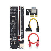 Ver009s Plus Mining Super Verson Pcie 1x To 16x Capacitor Adapter Board Graphics
