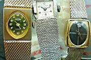 Lot Of 3 Wittnauer, Vulcain And Pilgrim Ladies Vintage Watch Runs Gold-filled