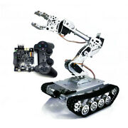 Complete Full Kit Rc Tank Car+robot Arm Gripper W/ Ps2 Controller Driver Board