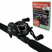 Tailored Tackle Left Handed Bass Fishing Rod Reel Baitcasting Combo 7 Ft 2-pcs