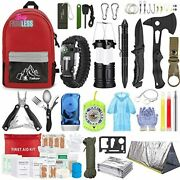 Emergency Survival Gear Set Camping First Aid Kit Outdoor Trauma Bag 151 Piece