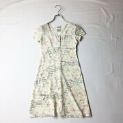 98c Coco Floral Print Jersey Material Short-sleeved D _43209