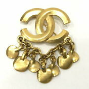 Cc Mark Brooch Gold Plated Chain Logo Vintage Brand Accessories _42021