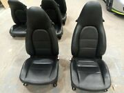 Porsche 996 986 Seats 8 Way Black Leather Left And Right 97 - 05