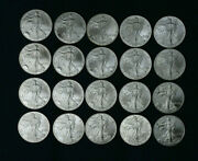 2003 American Silver Eagle Roll 20 Coins, In Mint Tube