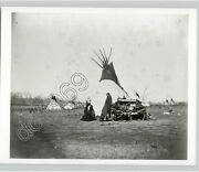Comanche Indian Leader Mow Way @ Camp 1873 By Ws Doule 1950s Press Photo