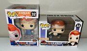 Sdcc 2020 Funko Pop Conan As Chucky And Dr. Ian Malcolm W/ Pop Cases Please Read
