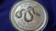 2013 10 Oz Silver Australian Year Of The Snake Coin In Mint Capsule - Free Ship