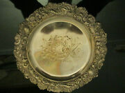 Ornate Antique Victorian Rococo Shells Middletown Silver Plate Wine Coaster