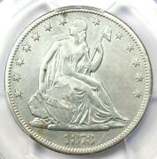 1873-cc Seated Liberty Half Dollar 50c Coin No Arrows - Pcgs Vf Details