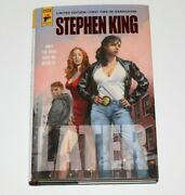 Stephen King Signed And039laterand039 Titan Books Limited Edition Hardcover Book 160/374