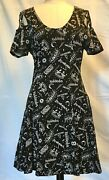 Harry Potter Hot Topic Black White Cotton Jersey Dress Sold Out Collectible Lrg