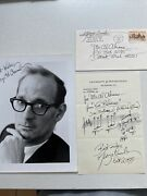Collectible Music Memorabilia- George Crumb - Autograph Musical Quotation Signed