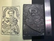 1880's Barnum Bailey Very Rare Hand-engraved Johnny Patterson Printing Woodblock