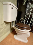 1920s Antique Wall Mounted Toilet Standard Restored