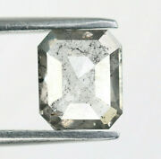 1.06 Ct Emerald Cut Salt And Pepper Diamond For Engagement Ring