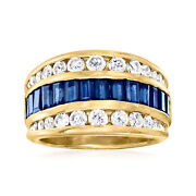 Vintage Sapphire And Diamond Ring In 18kt Gold Size 6