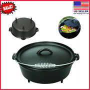 New 5-quart Cast Iron Dutch Oven With Handle, Stainless Steel, Cast Iron, Black