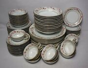 Noritake China Rosanne 5692 84-piece Set Service For 12 + Fruit And Soup Bowls