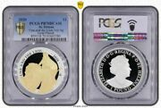 St. Helena 2020 1 Oz Una And The Lion Andpound1 Pcgs Pr70dcam Top Pop 3/0 Gold Plated
