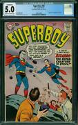 Superboy 68 Cgc 5.0 First Appearance And Origin Bizarro Dc 1958 Cleaned Cover