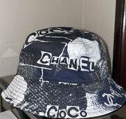 Auth 2020 Limited Edition Black White Cc Logo Bucket Hat Size M Sold Out