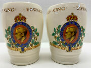2 Pottery Cups / Tumblers Of 1937 Coronation Of King Edward Viii
