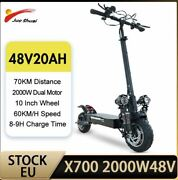 2000w Dual Motor Electric Scooter Adults 60km/h 20 A Battery 70km 10 E Scooter