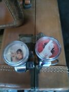 2 Vintage Pin-up Girl Auto Steering Wheel Knob Spinners