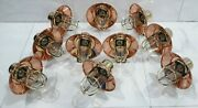Vintage Style Alleyway Brass Wall Bulkhead Light Fixture And Copper Shade 10 Piece