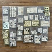 Huge Stampin' Up Total Of 302 Stamps Lot Of 33 Stamp Sets New And Used
