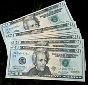2006 Twenty Dollar Us Federal Reserve Star Note Uncirculated 10 Consecutive