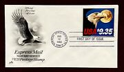 Us 1909 Hand Stamped Fdc 25 Years Nasa Jfk Kennedy Space Moon Express Eagle 1983