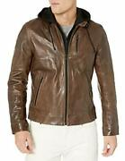 Lamarque Menand039s Slayer Washed Lambskin Leather Bike - Choose Sz/color