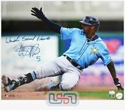 Wander Franco Tampa Bay Rays Signed Full Name 16x20 Photo Photograph Jsa Auth 1