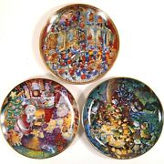 3 Bill Bell Xmas Plates Holy Cats, Not A Creature Was Stirring, St. Catricks Day