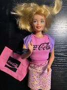 1976 Mattel Barbie With Coca-cola Shirt And Bag 100 Authentic