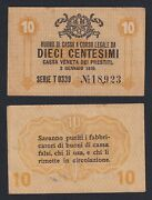 Italy 10 Cents Occupation Austro German 1918 Bb / Vf A-04