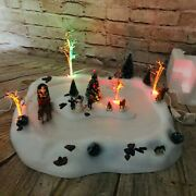 Lemax Christmas Tabletop Village Here Comes Santa Claus Animated Musical Scene
