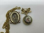 Antique Watches Set 14k Yellow Gold Pearls And Enamel