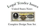 Book 5-1/2 X 8-1/2 Wire Bound United States Notes 1862-1923 Complete Set