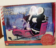 Rare Vintage Gemmy Santa And Mrs. Claus A Sleigh Ride Lighted Musical Animated