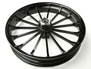Black 3d Turbine 21x3.5andrdquo For 2013 And Below Harley Davidson Touring Dyna