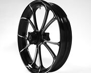 Southern Black Contrast 21x3.5andrdquo Billet Usa Wheel Harley-davidson Touring W/abs