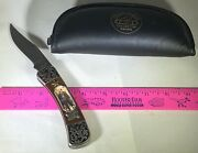 Wyatt Earp Knife Standing Portrait And Gold Star Franklin Mint Collector Knives
