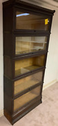 Macey 811 Antique Oak Barrister Lawyers 5 Stack Bookcase 1900and039s