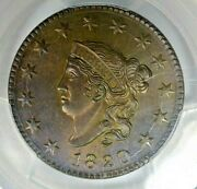 1820 1c Pcgs Ms64 Bn Cac Beautiful Color