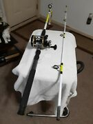 Trolling Fishing Rod Ows 8'25lb Med/heavy And Trolling Reel Shakespeare...