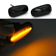 2x Smoked Lens Amber Led Side Marker Turn Signal Light For Opel Astra G Corsa C