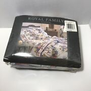 Vintage Royal Family By Cannon Flat Sheet Luxury Percale